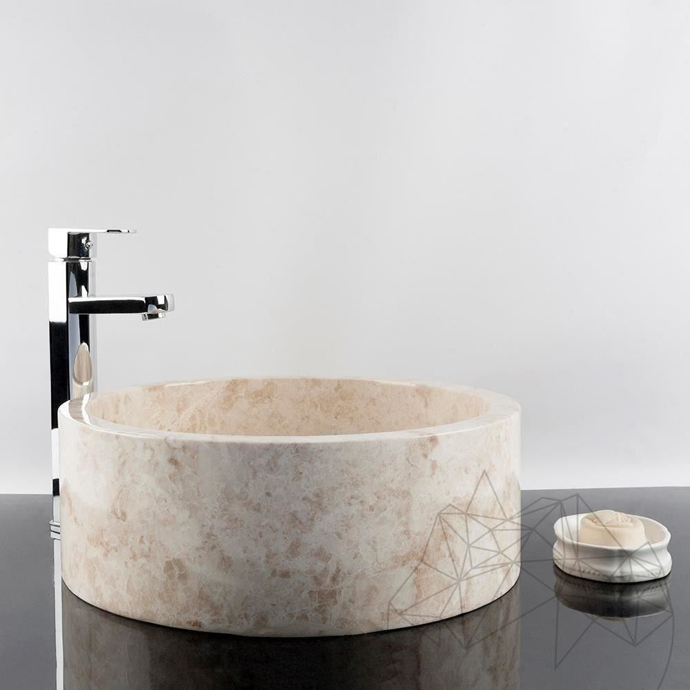 Bathroom Sink - Cappuccino Marble RS-22, 42 x 15 cm title=Bathroom Sink - Cappuccino Marble RS-22, 42 x 15 cm