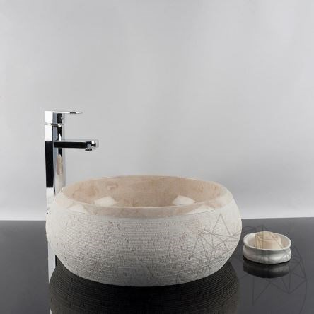 Bathroom Sink - Cappuccino Marble RS-24, 41 x 33.5 x 15 cm