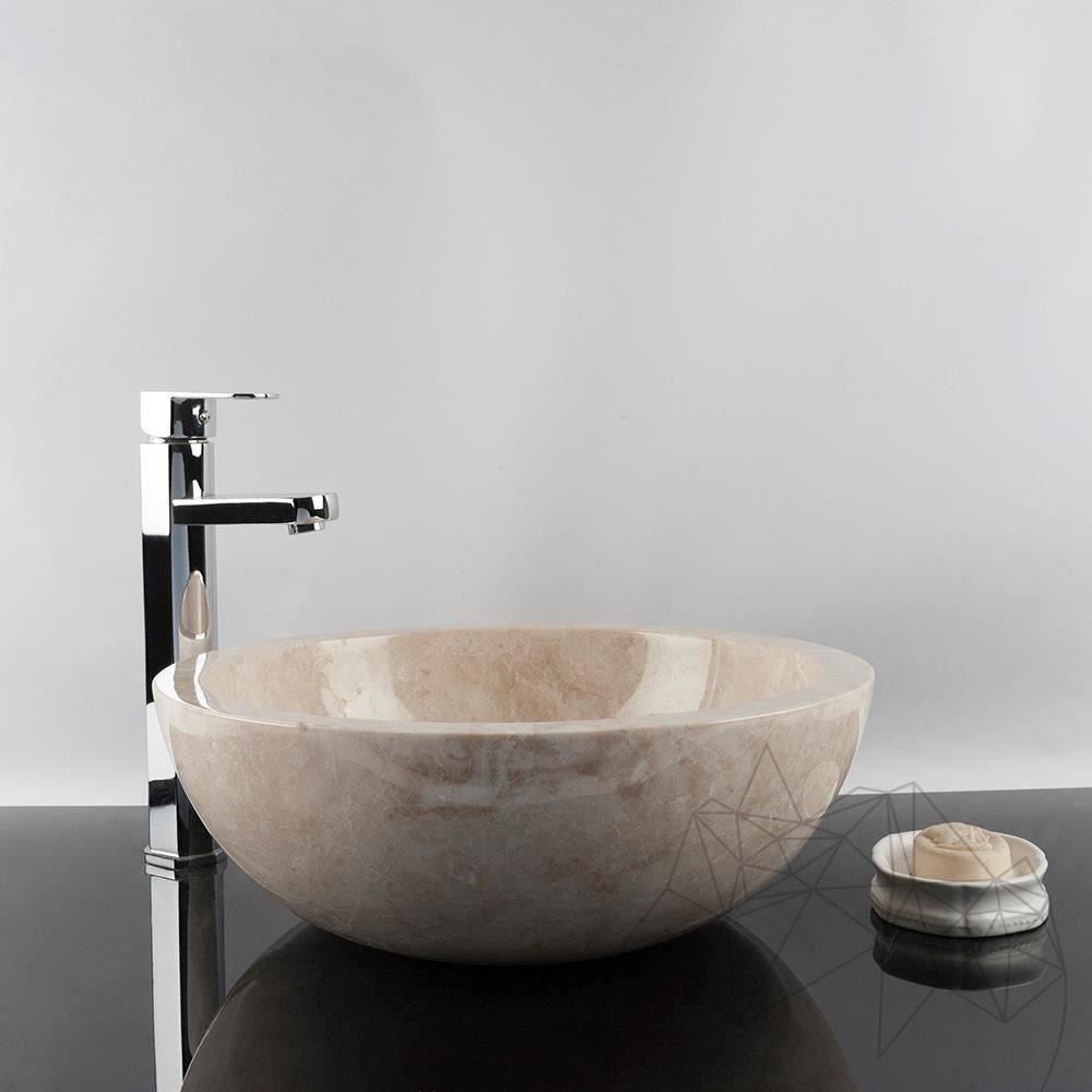 Bathroom Sink - Cappuccino Marble RS-5, 42 x 15 cm