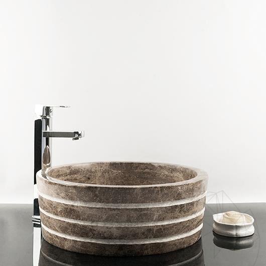 Bathroom Sink - Dark Emperador Marble RS-42, 41.5 x 15 cm