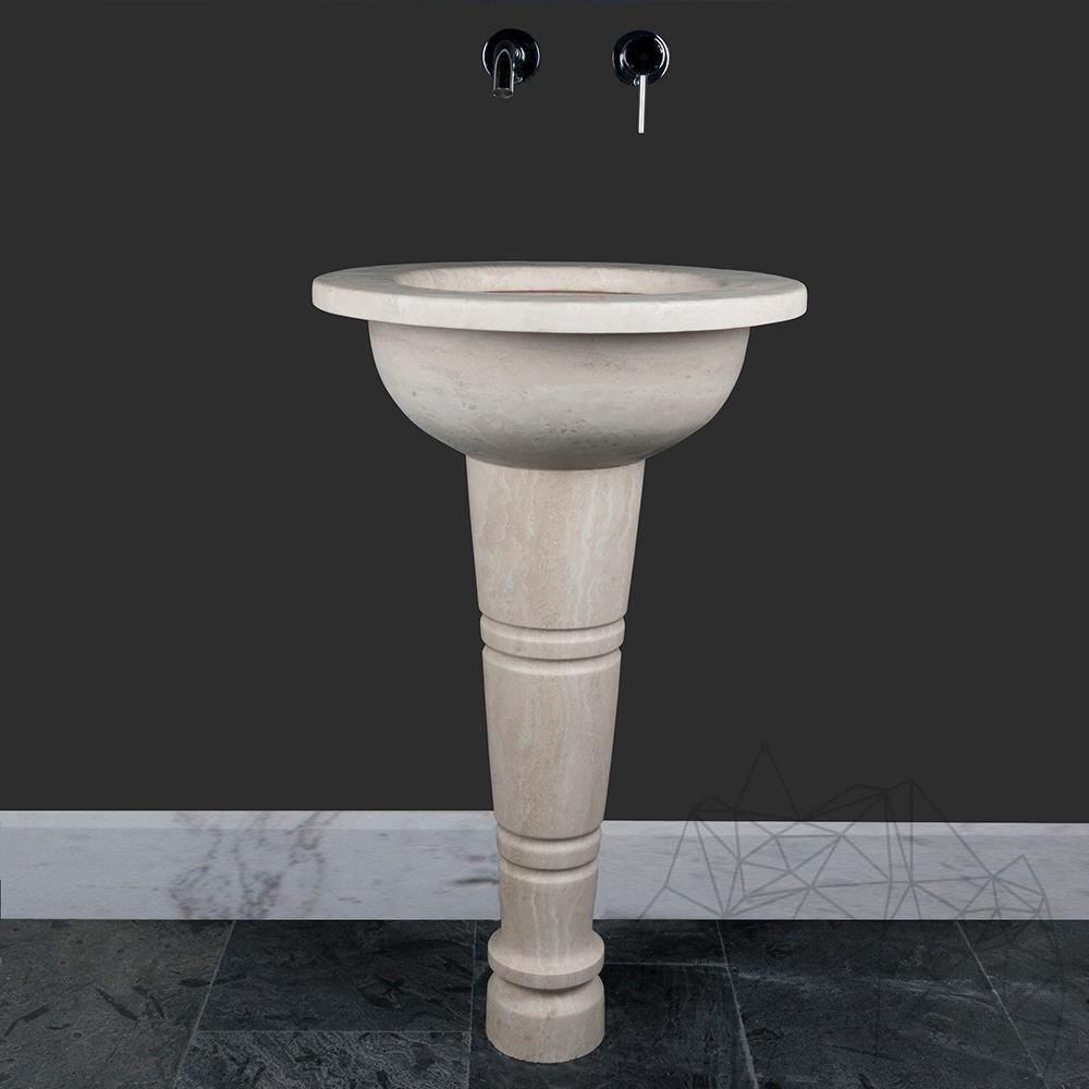 Bathroom Sink - Classic Travertine BW-036 BRPS, 52 x 84 cm