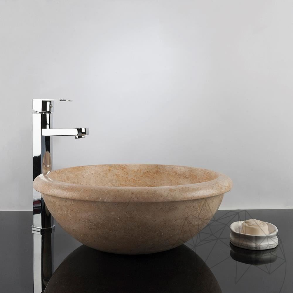 Bathroom Sink - Classic Travertine RS-19, 42 x 15.5 cm