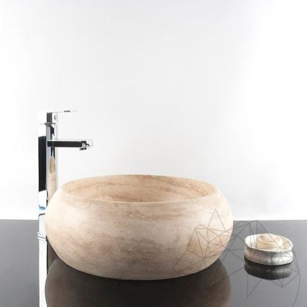 Bathroom Sink - Classic Travertine RS-21, 41 x 33.5 x 15 cm