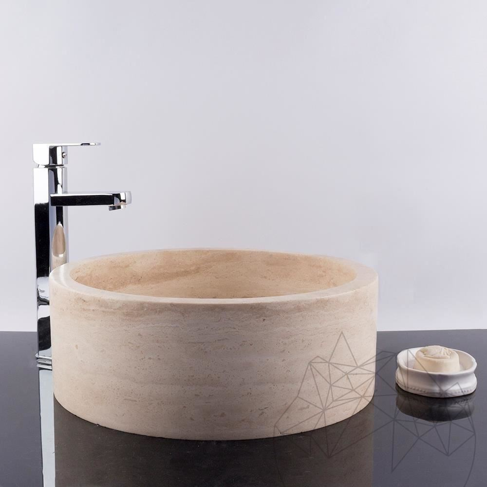 Bathroom Sink - Classic Travertine RS-22, 42 x 15 cm title=Bathroom Sink - Classic Travertine RS-22, 42 x 15 cm