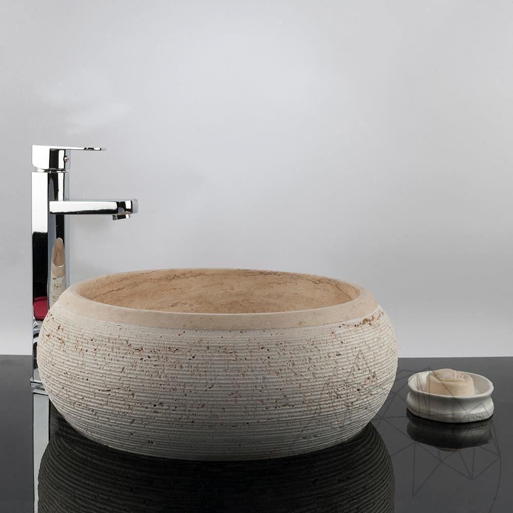 Bathroom Sink - Classic Travertine RS-24, 41 x 33.5 x 15 cm