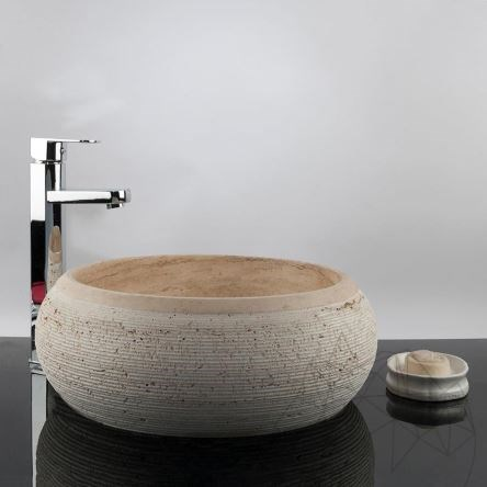 Bathroom Sink - Classic Travertine RS-24, 41 x 33.5 x 15 cm