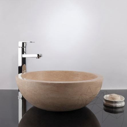 Bathroom Sink - Classic Travertine RS-5, 42 x 15 cm
