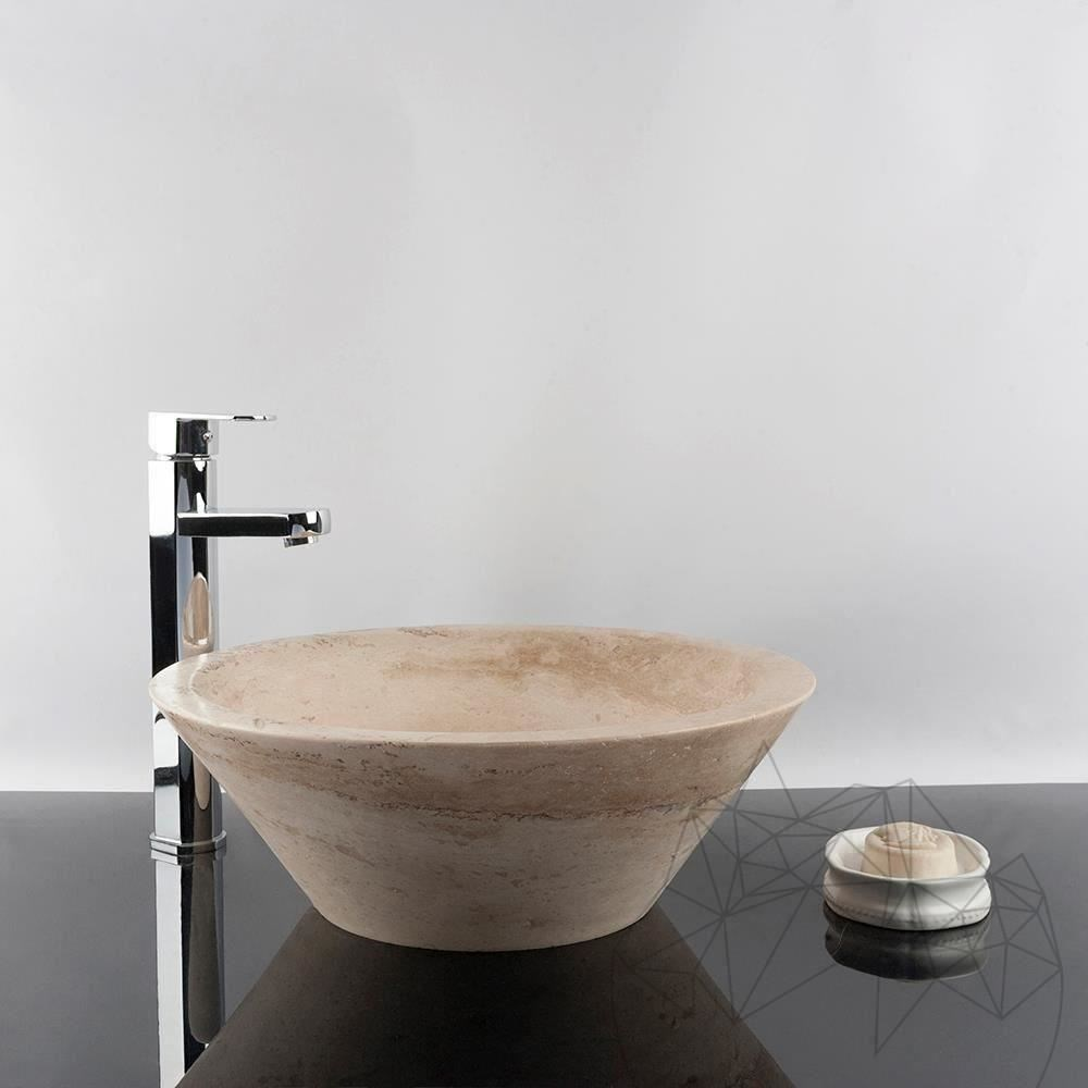 Bathroom Sink - Classic Travertine RS-8, 42 x 15 cm