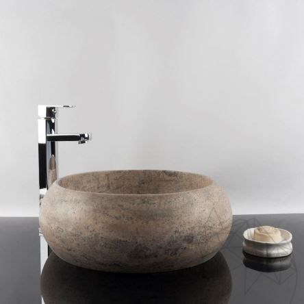 Bathroom Sink - Silver Travertine RS-21, 41 x 33.5 x 15 cm