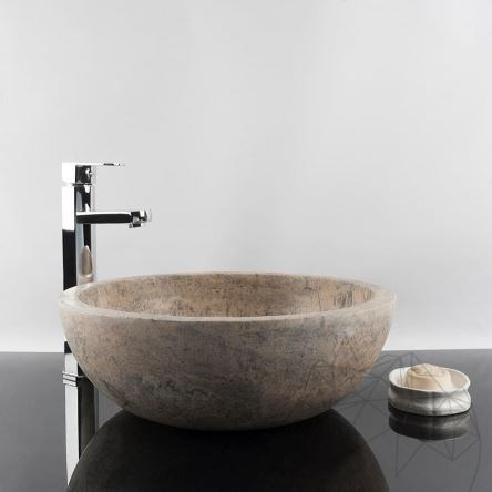 Bathroom Sink - Silver Travertine RS-5, 42 x 15 cm