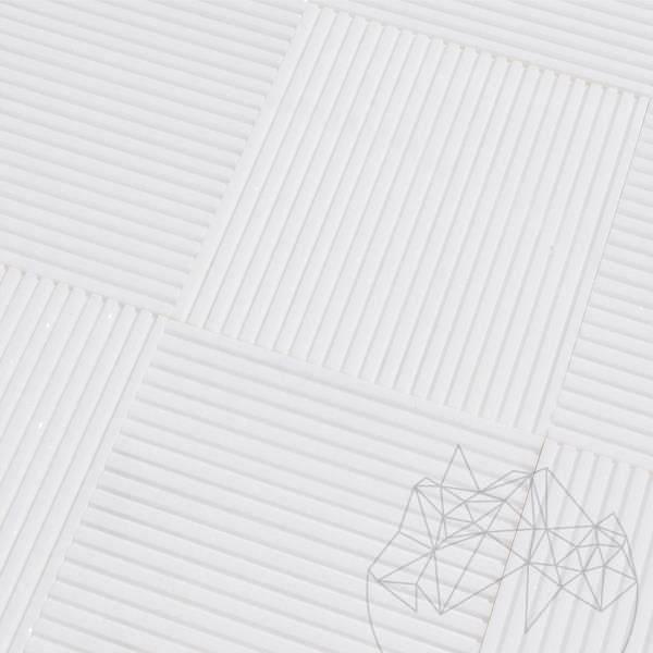 Thassos Coco Line Marble 15 x 15 x 1 cm title=Thassos Coco Line Marble 15 x 15 x 1 cm