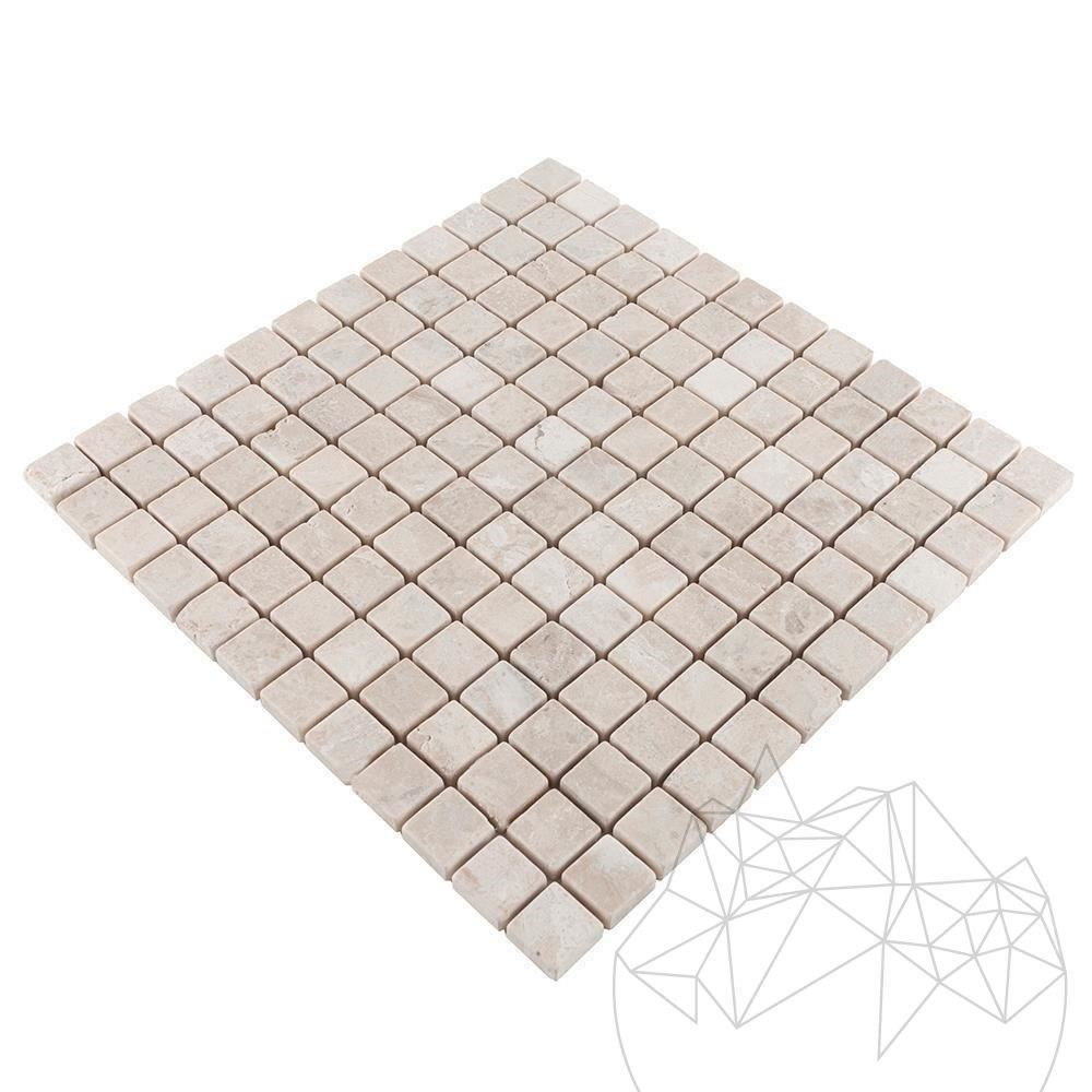 Cappuccino Marble Tumbled Mosaic 2.3 x 2.3 cm