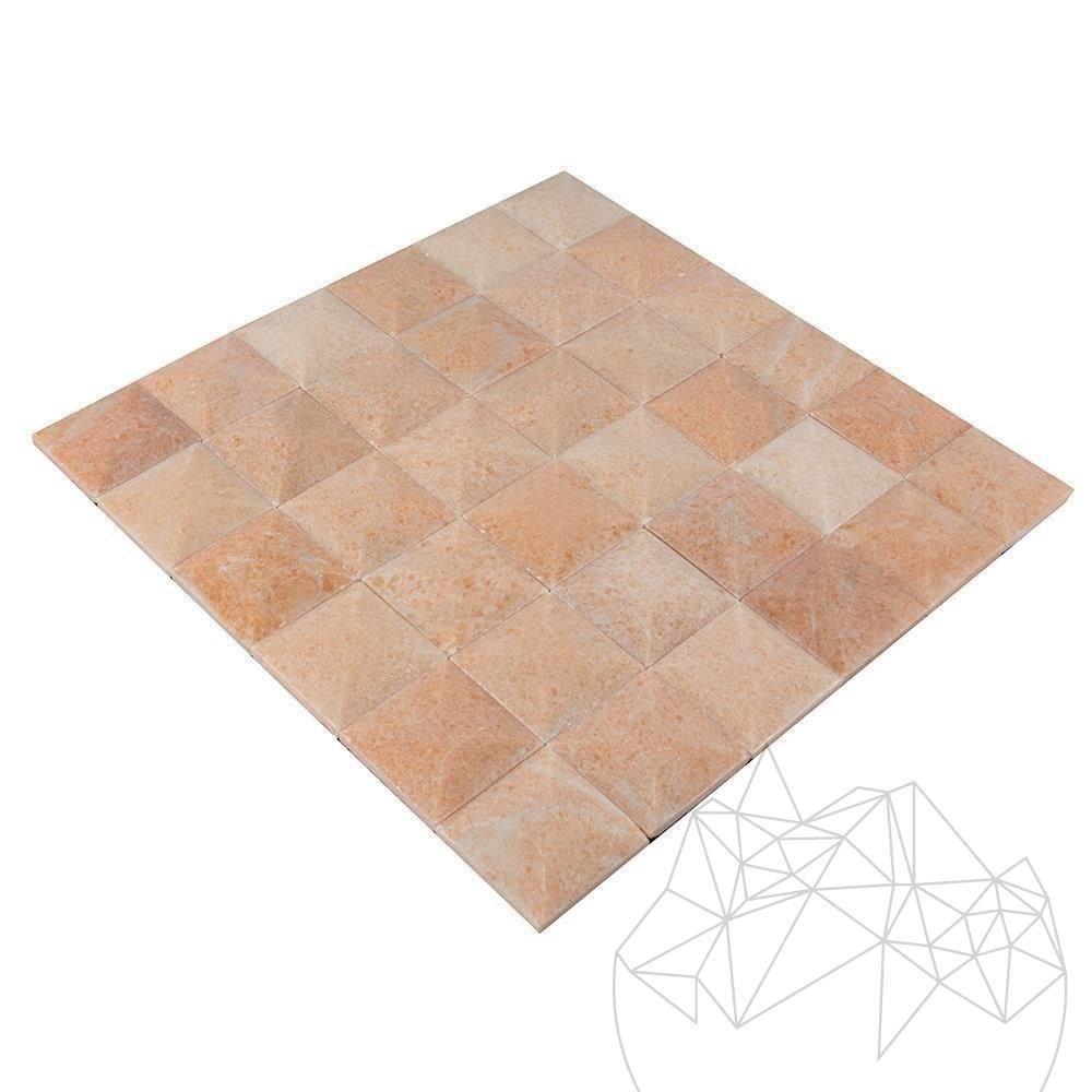 Rodon Marble Polished Pyramid Mosaic 5 x 5 cm