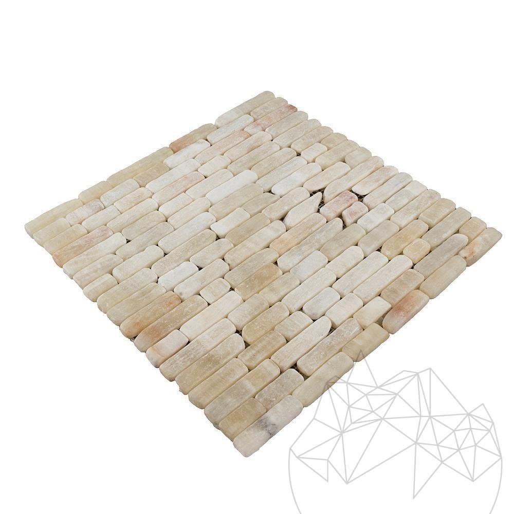 Onyx Tumbled Fileti Mosaic 1.5 cm x FL