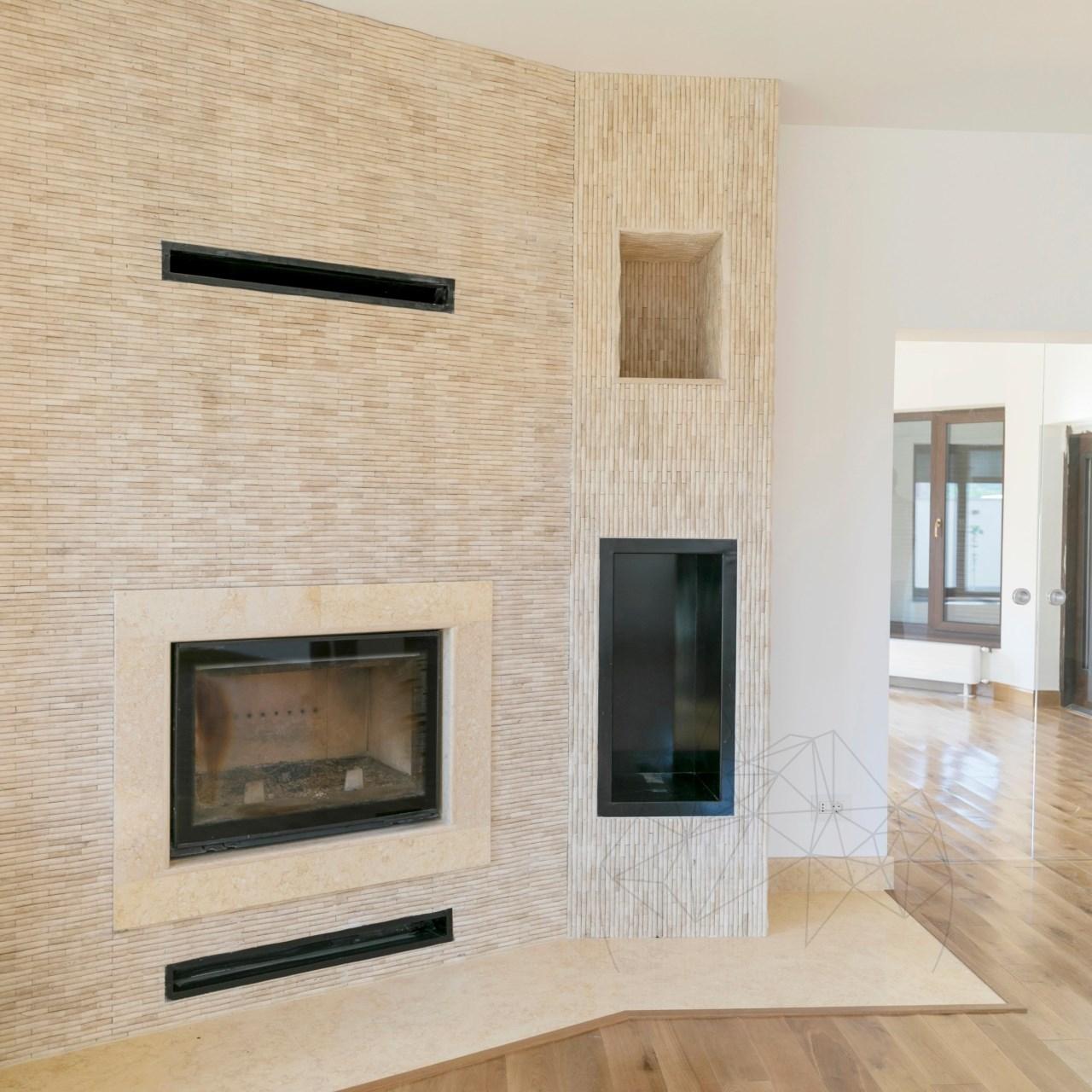 Classic Travertine Tumbled Bamboo Mosaic 1.5 x 7.5 cm title=Classic Travertine Tumbled Bamboo Mosaic 1.5 x 7.5 cm