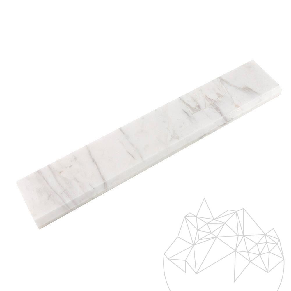 Volakas Marble Polished Plinth 7 x 40 x 2 cm (Beveled 1L)