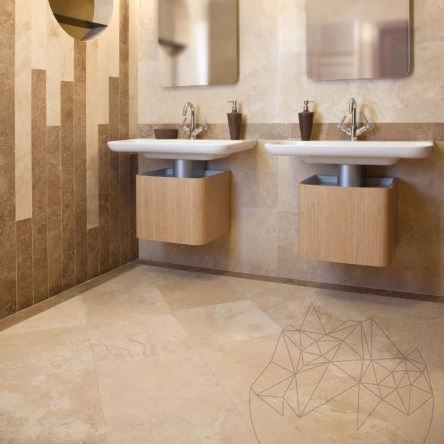 Classic Cross Cut Honed Travertine 45.7 x 30.5 x 1.2 cm - Economy