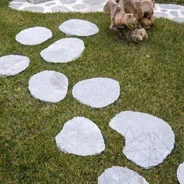 Kavala Slate Riven & Chiseled Edge Japanese Garden Steps - XXL