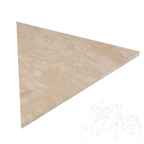 Limestone Vratza Honed, Triangle 30cm x 1.2cm - Stock Clearance