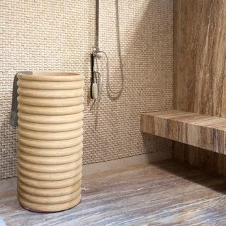 Bathroom Sink - Classic Travertine SP-23, 42 x 83 cm