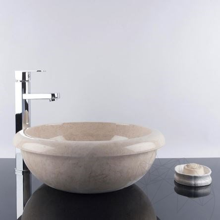 Bathroom Sink - Light Beige Marble RS-19, 42 x 15 cm