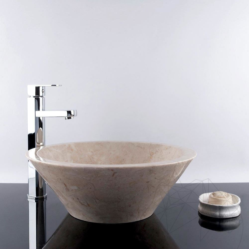 Bathroom Sink - Light Beige Marble RS-8, 42 x 15 cm
