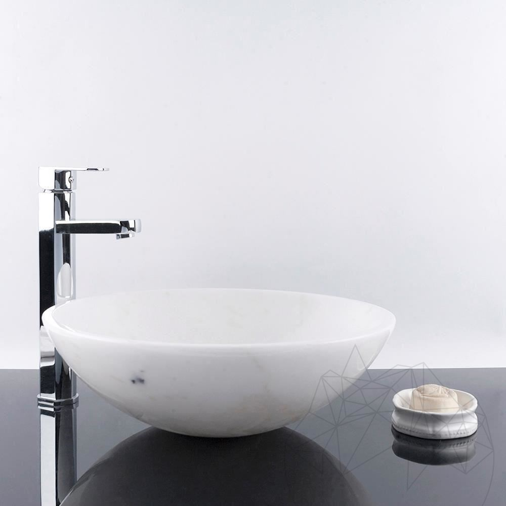 Bathroom Sink - White Marble SB-05, 42 x 14 cm