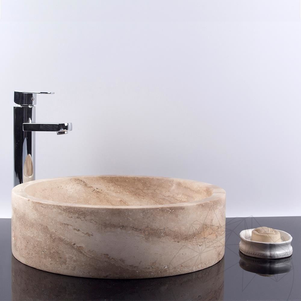 Bathroom Sink - Classic Travertine RS-17, 42 x 12 cm