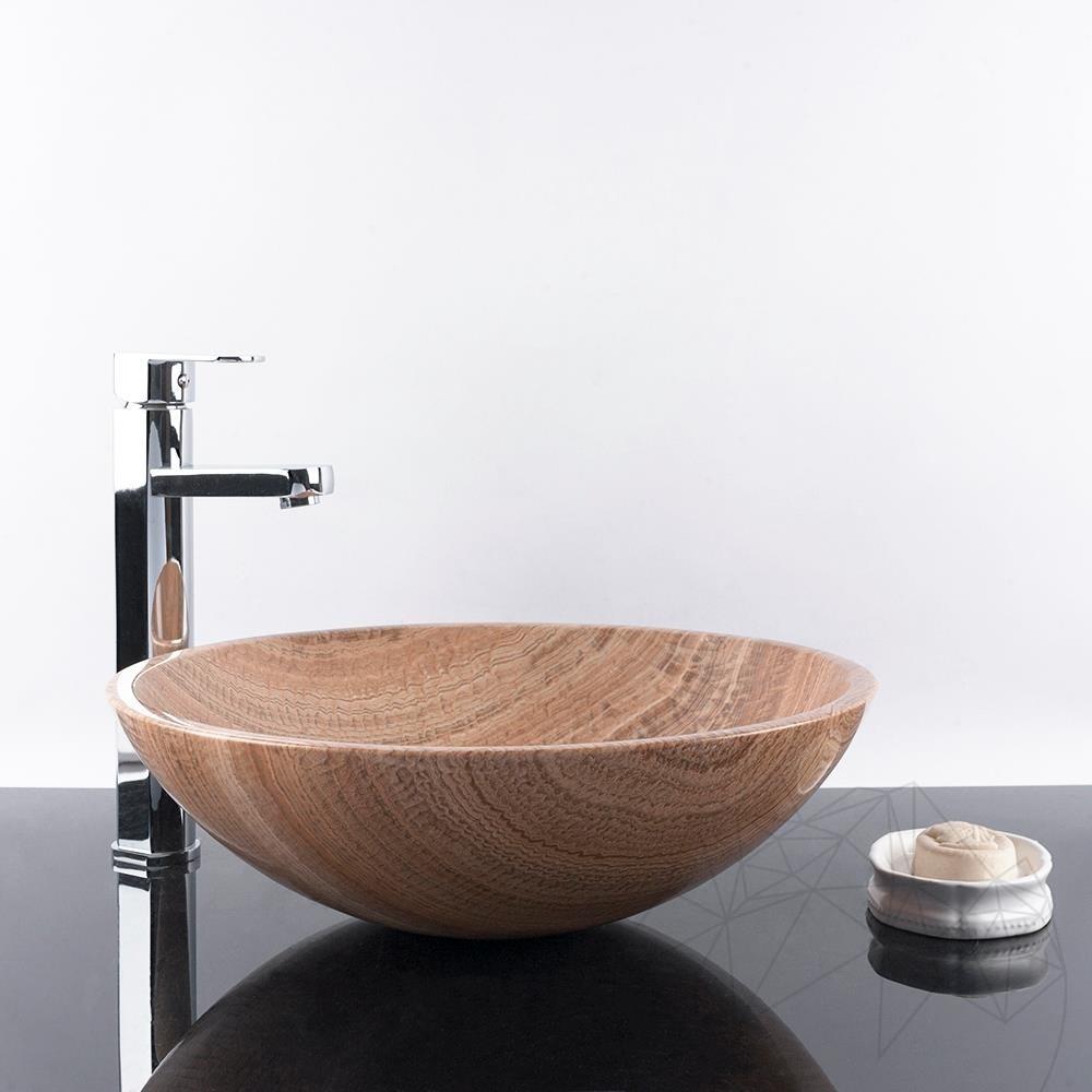 Bathroom Sink - Wood Marble SB-19 42 x 14 cm