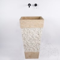 Bathroom Sink - Classic Travertine  SP-19, 43 x 84 cm