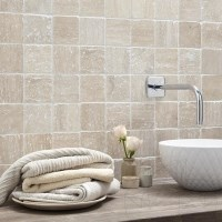 Classic Multicolor Travertine Tumbled Mosaic 4.8 x 4.8 cm - Stock clearance