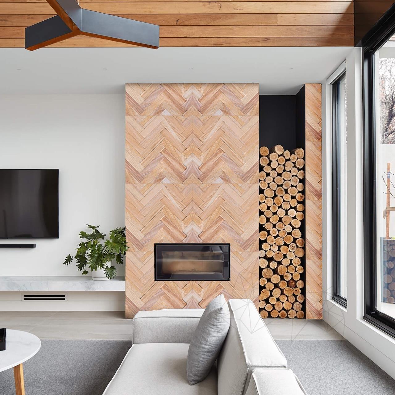 Teakwood Honed Sandstone 7 x 30 x 1 cm