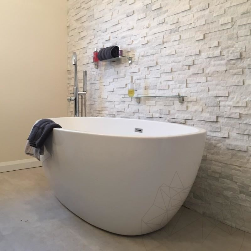 Pure White Marble Wall Cladding Panel 15 x 60 cm