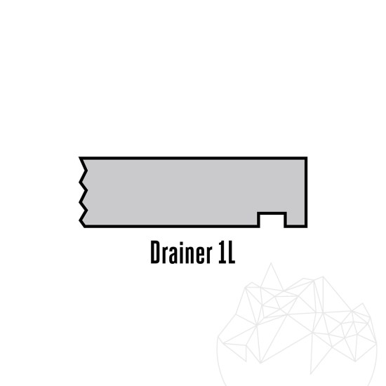 Special cut-to-size 1L drainer (universal)
