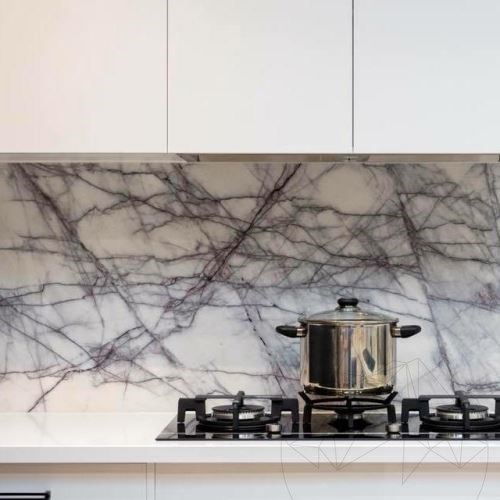 Calacatta Lilac Marble Polished Countertop 238 x 65 x 3 cm