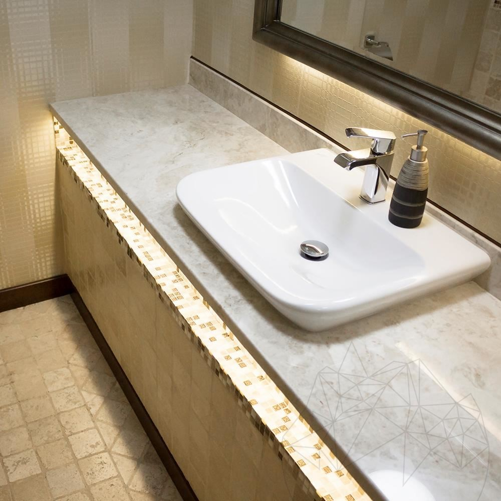 Cappuccino Marble Polished Countertop 250 x 65 x 3 cm title=Cappuccino Marble Polished Countertop 250 x 65 x 3 cm