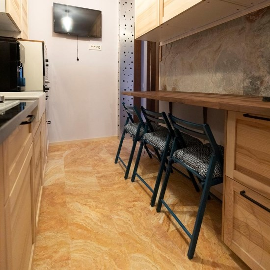 Peach Cross Cut Brushed Travertine 61 x 30.5 x 1.2 cm