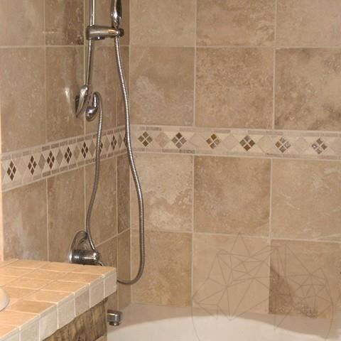 Classic Cross Cut Honed Travertine 20.3 x 20.3 x 1.2 cm - Stock Clearance