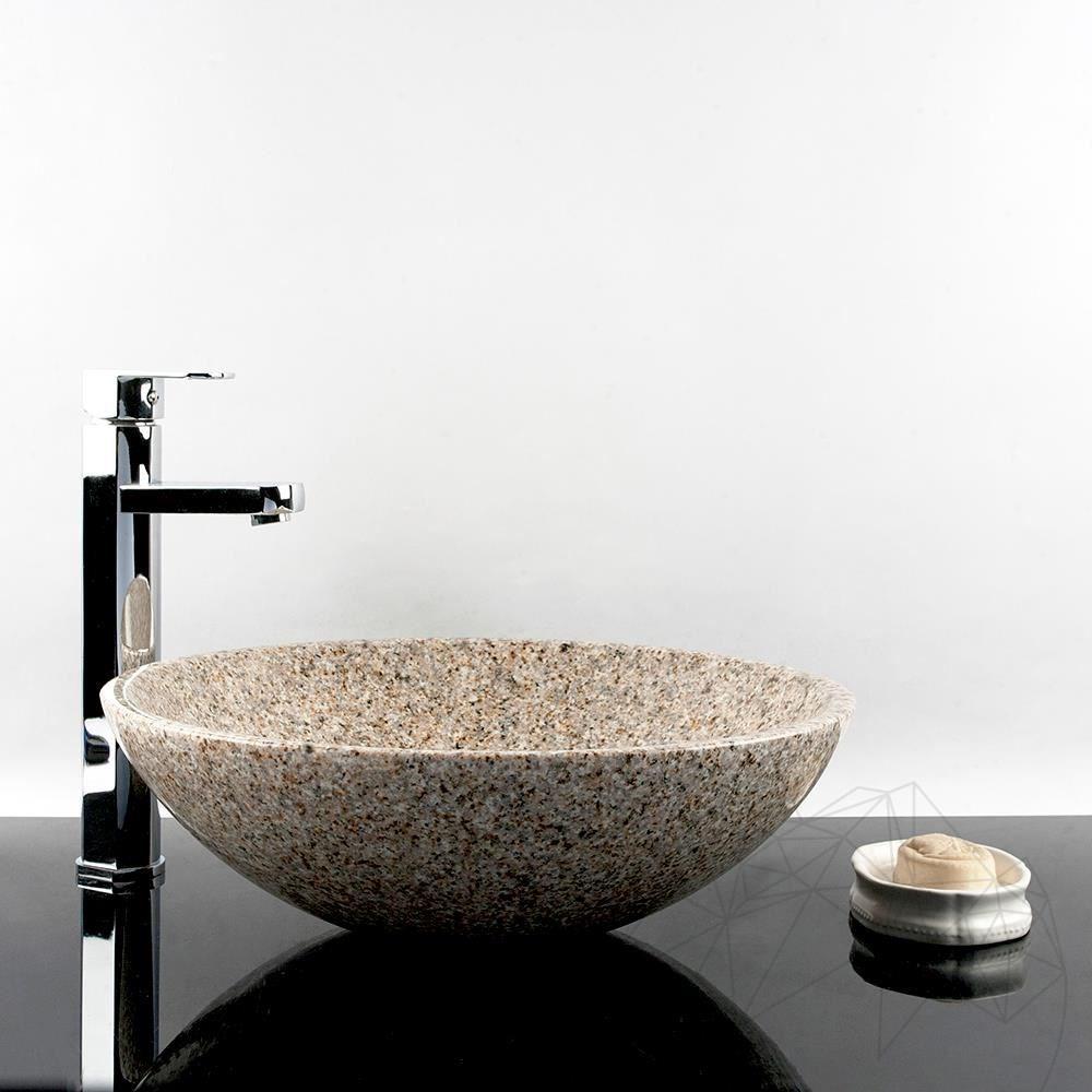 Bathroom Sink - Padang Yellow (Desert Gold) Granite, 42 x 14 cm