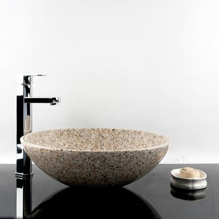 Bathroom Sink - Padang Yellow (Desert Gold) Granite, 42 x 14 cm