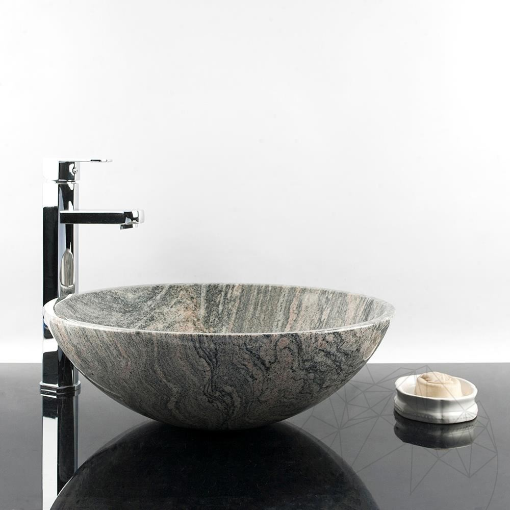 Bathroom Sink - Fantastico Juparana Granite 42 x 14 cm title=Bathroom Sink - Fantastico Juparana Granite 42 x 14 cm