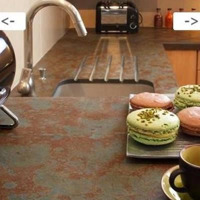 Noisette Multicolored Riven Slate Countertop 110 x 65 x 2 cm