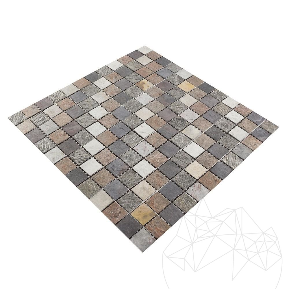 Flexible SKIN Slate Multicoloured Mosaic 2 x 2 cm