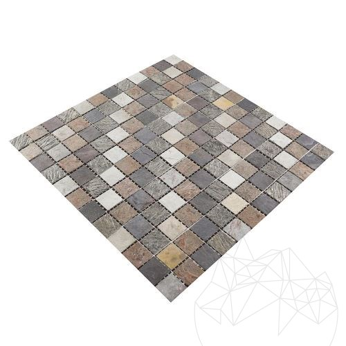 Flexible SKIN Slate Multicoloured Mosaic 2 x 2 cm