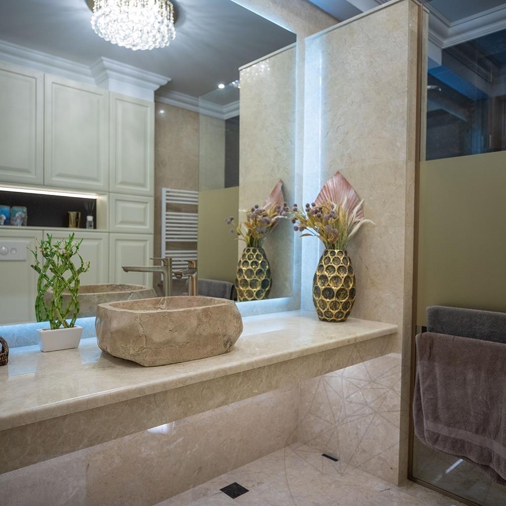Crema Royal Marble Polished Countertop 250 x 65 x 3 cm