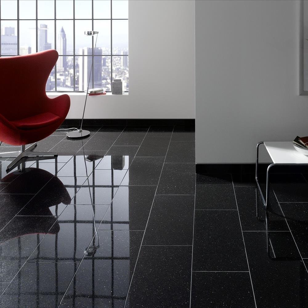 Black Galaxy Polished Granite 61 x 30.5 x 1 cm (Beveled 4L)
