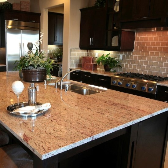 Fantastico Gold Granite Polished Countertop 250 x 65 x 3 cm