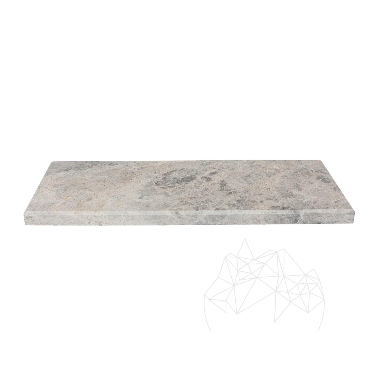 Tundra Grey Marble bathroom single shelf / shower shelves 40 x 14.5 x 2 cm