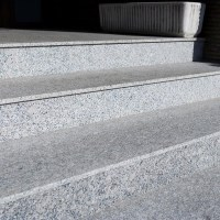 Rock Star Grey Flamed Granite Stair 120 x 33 x 2 cm