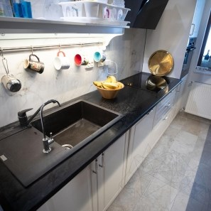 Silver Polished Slate Countertop 250 x 65 x 3 cm